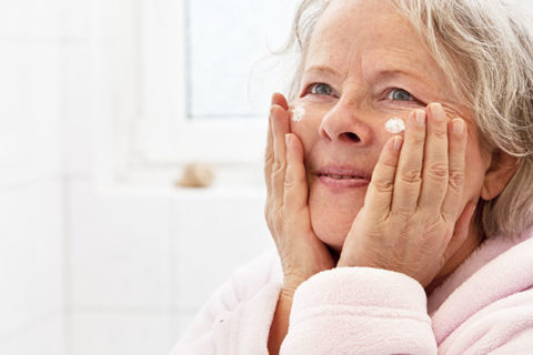 Healthy skin for seniors.