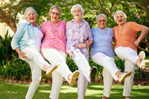 Senior ladies dancing